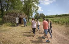 Visita a una de les barraques de vinya