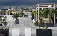 La terrassa del Museu d'Història de Catalunya