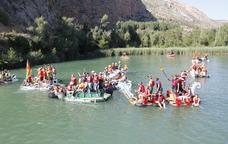 Baixada de barques durant la Transsegre