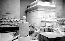 Algunes de les peces de l'exposició 'Arqueologia a l'exili'