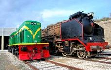 Locomotores al Centre d'Interpretació del ferrocarril a Móra la Nova
