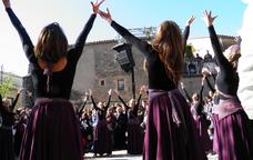 Una de les escenificacions de la Fira de les Bruixes de Sant Feliu Sasserra