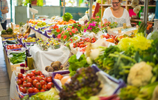 Flors, verdura i fruita al 'Maridatge dels Sentits'.