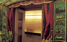 La porta d'entrada d'una de les exposicions del Museu del joguet de Catalunya