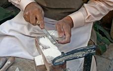 Demostració al museu de l'alabastre de Sarral
