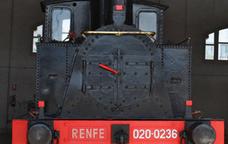 Locomotora al Museu del Ferrocarril de Catalunya