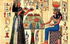 Papir amb jeroglífics de l'antic Egipte