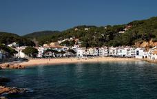 La platja de Tamariu, a la Costa Brava