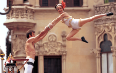 Espectacle d'acrobàcies al Trapezi