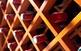 Ampolles de vi en un expositor