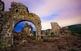 Castell d'Eramprunyà al capvespre