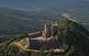 El castell de Montsoriu quan estava en obres