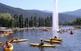 Piragüisme en aigües tranquil·les al Parc Olímpic del Segre