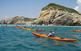 Expedició en kayak per les costes del Garraf