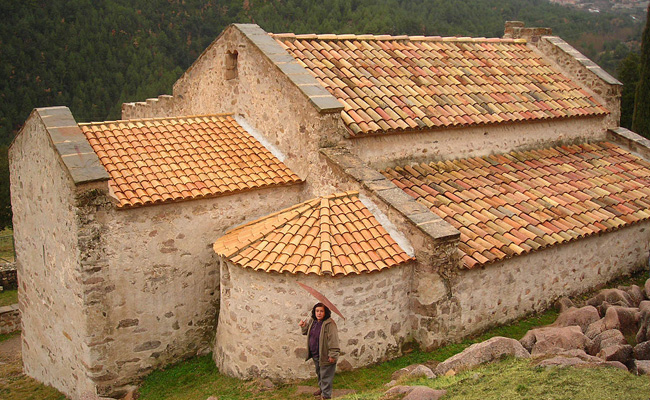 On es conserven part de les pintures murals de l'església de Sant Quirze de Pedret?