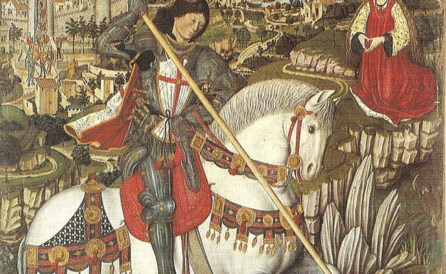 Segons el 'Costumari català' de Joan Amades, Sant Jordi va matar el drac davant les muralles de...