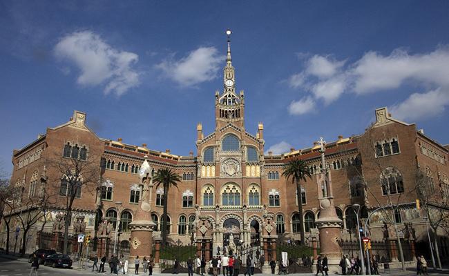 Quants edificis es van construir del projecte original de Lluís Domènech i Montaner per a l'Hospital de Sant Pau?
