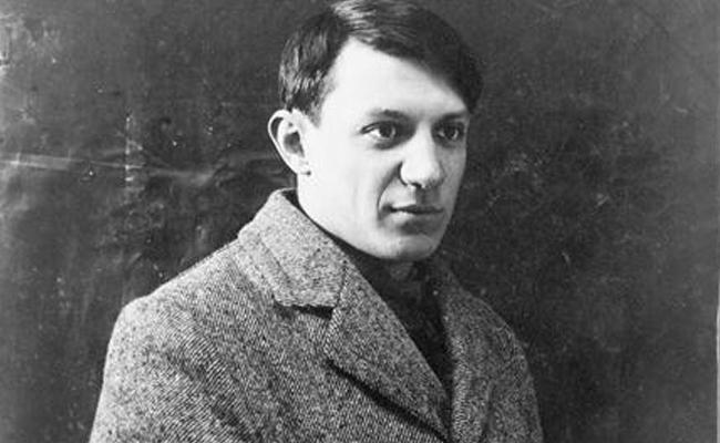 Quina era la temàtica de la primera exposició de Picasso a Barcelona?