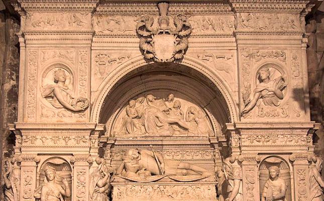 El mausoleu renaixentista de Ramon Folc de Cardona i Anglesola es troba a l'església parroquial de...